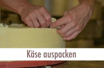 Käse auspacken